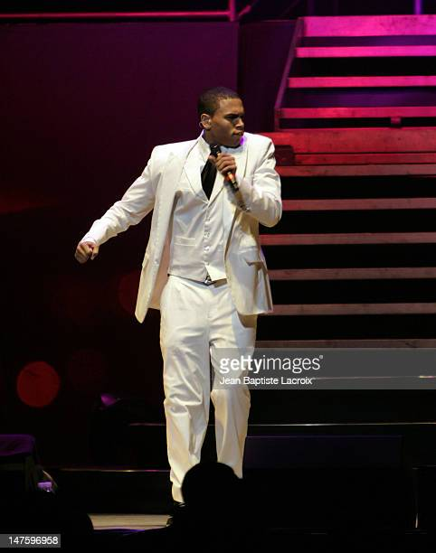 Chris Brown during Chris Brown Juelz Santana NeYo Lil Wayne and Dem Franchize Boyz in Concert in Miami September 8 2006 at American Airlines Arena in...