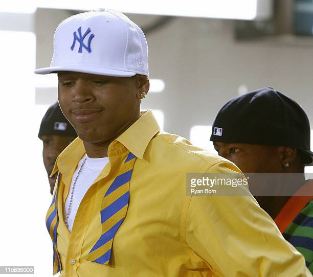 """Chris Brown during Chris Brown Performs on NBC's """"Today Show Summer Concert Series"""" - August 11, 2006 at Dean and Deluca Plaza in New York City, New..."""