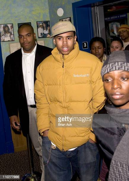 Chris Brown during Chris Brown Visits Planet Hollywood for Power 1051 Event in Times Square November 30 2005 at Planet Hollywood Times Square in New...