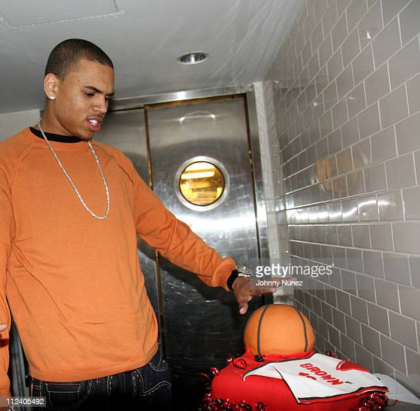 Chris Brown during Chris Brown's 18th Birthday at Mr Chow in New York New York United States