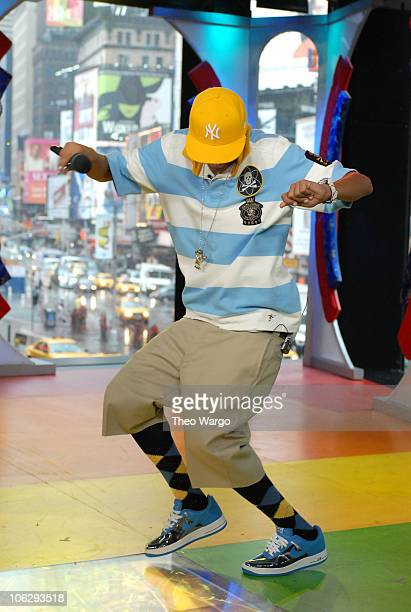 Chris Brown during Ciara Justin Long and Chris Brown Visit MTVs TRL August 10 2006 at MTV Studios in New York City New York United States