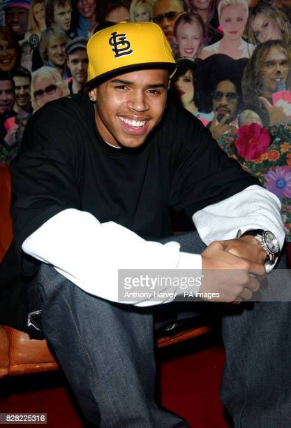Chris Brown during his guest appearance on MTV's TRL Total Request Liveshow Wednesday 16 November 2005 held at their studios in Leicester Square...