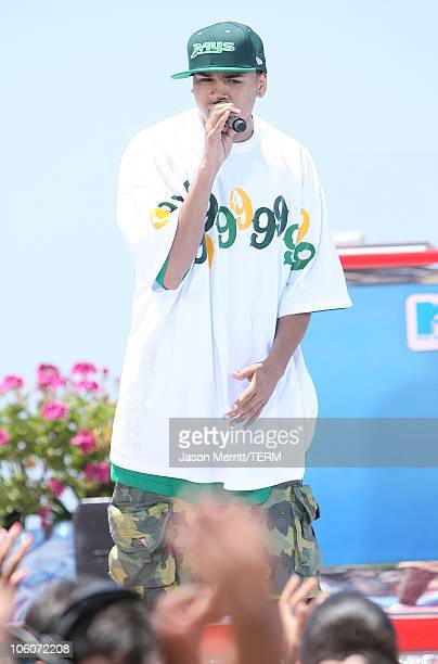 Chris Brown during MTV's 'Spankin' New Sounds of the Summer Week' June 1 2006 at The Wave House in San Diego California United States