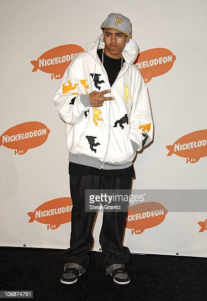 Chris Brown during Nickelodeon's 19th Annual Kids' Choice Awards Press Room at Pauley Pavilion in Westwood California United States