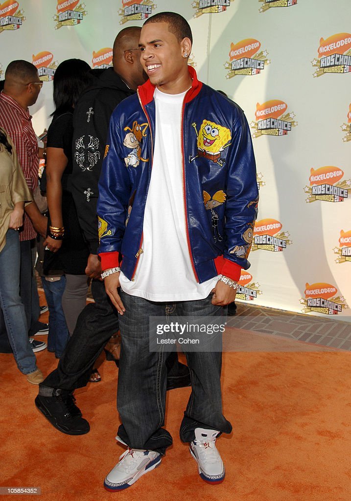 Chris Brown during Nickelodeon's 20th Annual Kids' Choice Awards - Arrivals at Pauley Pavilion in Westwood, California, United States.