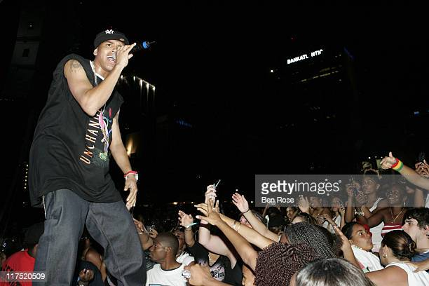 Chris Brown during Radio One Spring Fest Concert in Miami Florida United States