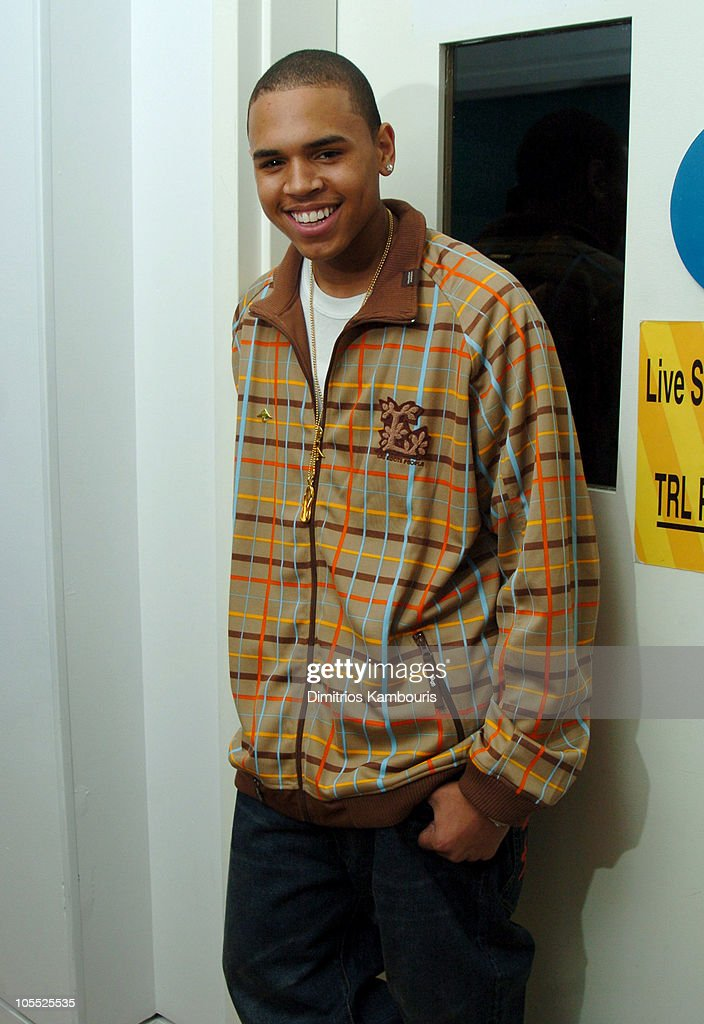 """Twista and Chris Brown Visit MTV's """"TRL"""" - October 4, 2005 : News Photo"""