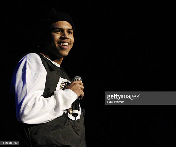 Chris Brown during We Ain't Done Yet Holladay Jam Tour December 23 2005 at Joe Louis Arena in Detroit Michigan United States