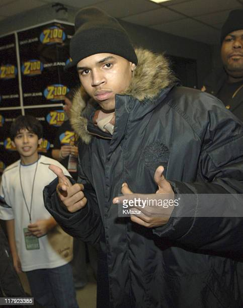 Chris Brown during Z100's Jingle Ball 2005 Backstage and Audience at Madison Square Garden in New York City New York United States