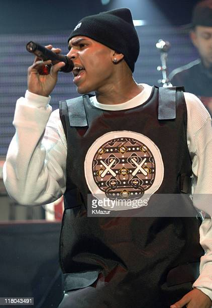Chris Brown during Z100's Jingle Ball 2005 Show at Madison Square Garden in New York City New York United States