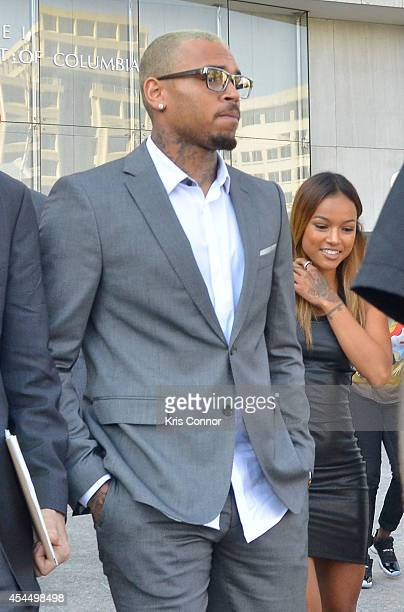 Chris Brown enters the H Carl Moultrie I Court House of the District of Columbia to accept a plea deal for an assault charge on September 2 2014 in...