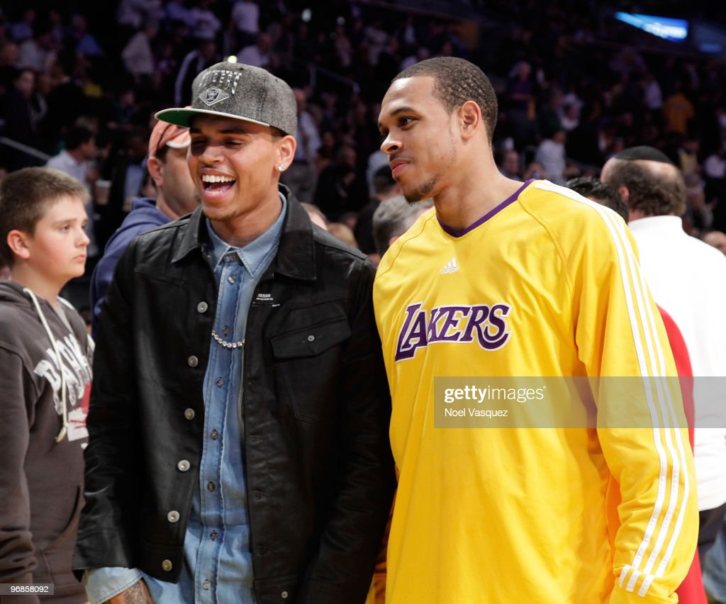 Celebrities At The Lakers Game : ニュース写真