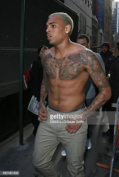 Chris Brown is seen leaving 'Good Morning America' on March 22 2011 in New York City