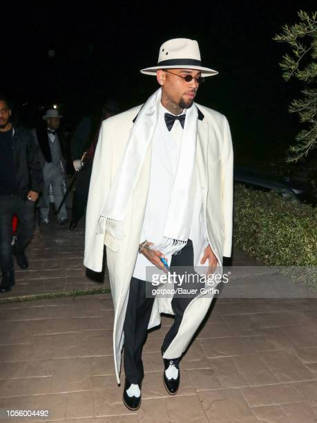 Chris Brown is seen on October 31 2018 in Los Angeles California