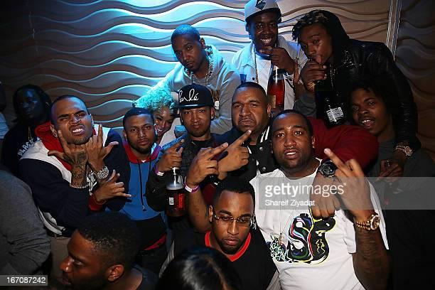 Chris Brown Juelz Santana Dj Suss One Slobucks Trav and Wiz Khalifa attends the 2nd Annual DJ Prostyle's Birthday Bash after partyat Stage 48 on...