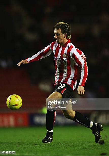 Chris Brown of Sunderland in action during the Coca Cola Championship match between Sunderland and Gillingham at the Stadium of Light on January 3,...