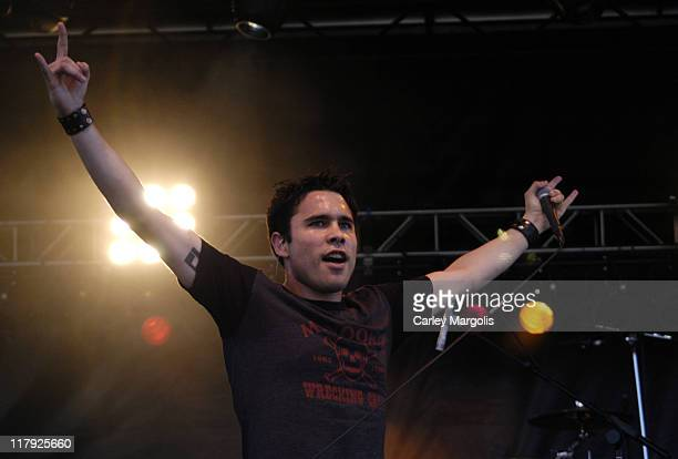 Chris Brown of Trapt during The Nokia TMobile Ramps Amps Invitational Presented by EXPNcom at Randalls Island in New York City New York United States