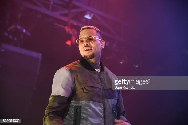 Chris Brown performs at HOT 97 Summer Jam 2017 at MetLife Stadium on June 11 2017 in East Rutherford New Jersey