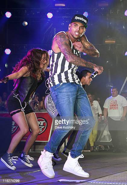 Chris Brown performs at the Hot 97 Summer Jam 2011 at the New Meadowlands Stadium on June 5 2011 in East Rutherford New Jersey