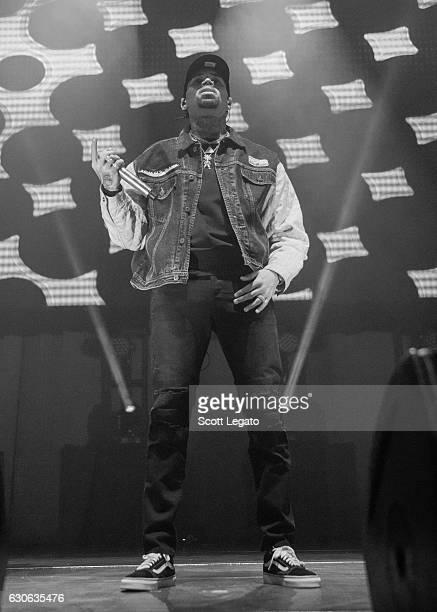 Chris Brown performs during the Big Show at The Joe at Joe Louis Arena on December 28 2016 in Detroit Michigan