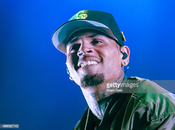 Chris Brown performs during the 'One Hell of a Nite' tour at Nikon at Jones Beach Theater on August 30, 2015 in Wantagh, New York.
