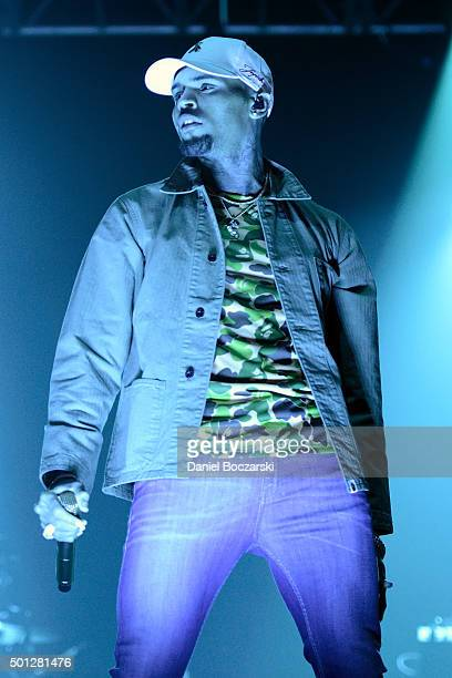 Chris Brown performs during the Royalty Live concert series at Aragon Ballroom on December 13 2015 in Chicago Illinois