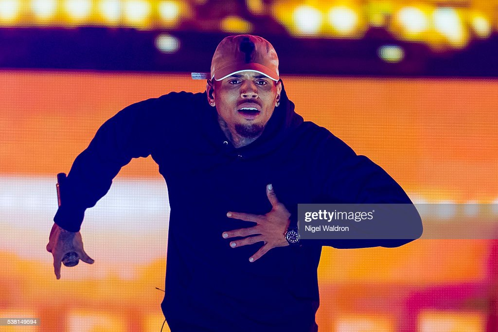 Chris Brown Performs in Concert in Oslo : News Photo