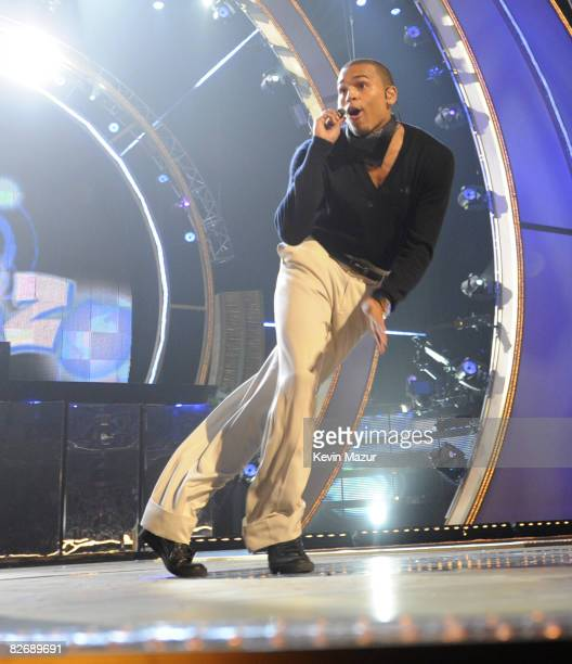 Chris Brown performs on stage during the Conde Nast Media Group's Fifth Annual Fashion Rocks at Radio City Music Hall on September 5 2008 in New York...