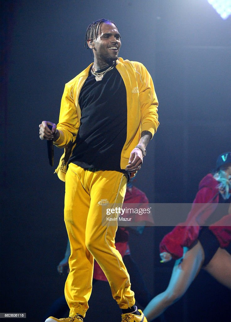 Chris Brown performs onstage during