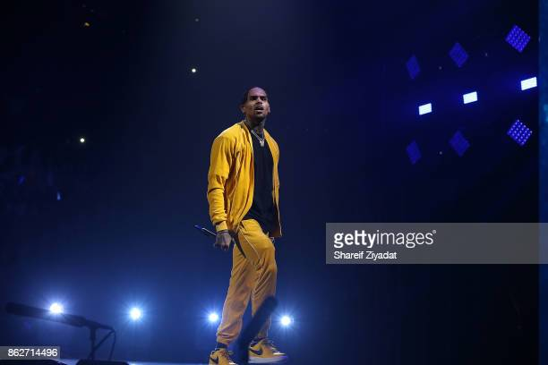 Chris Brown performs Tidal X Brooklyn at Barclays Center on October 17 2017 in the Brooklyn borough of New York City New York