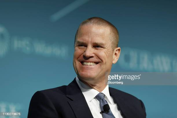 Chris Brown president of Vestas Wind Systems A/S North America smiles during the 2019 CERAWeek by IHS Markit conference in Houston Texas US on...