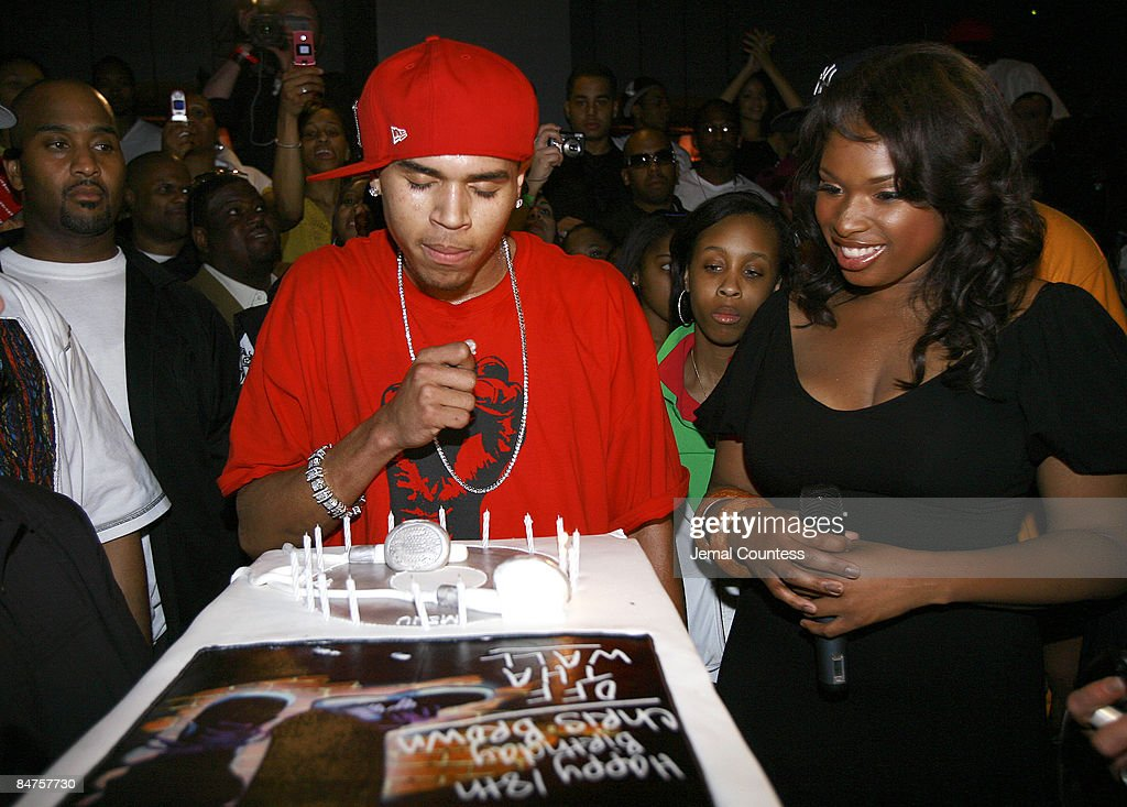 Sensational Chris Brown Receives His Birthday Cake From Jennifer Hudson News Personalised Birthday Cards Paralily Jamesorg