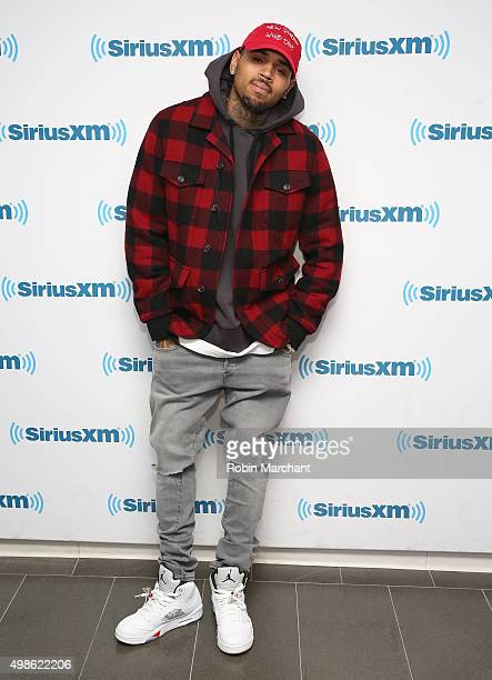 Chris Brown visits at SiriusXM Studios on November 24 2015 in New York City
