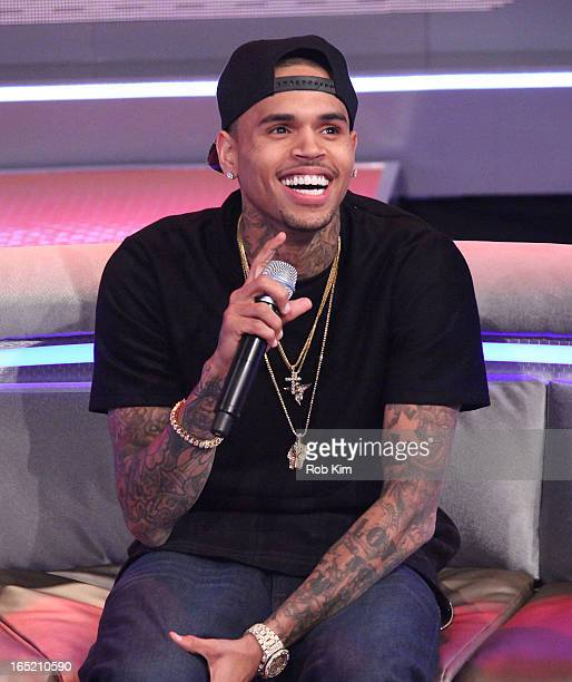 Chris Brown visits BET's 106 Park at BET Studios on April 1 2013 in New York City