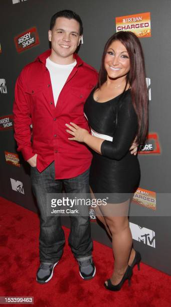 Chris Bruckner and Deena Nicole Cortese attends the 'Jersey Shore' Final Season Premiere at Bagatelle on October 4 2012 in New York City