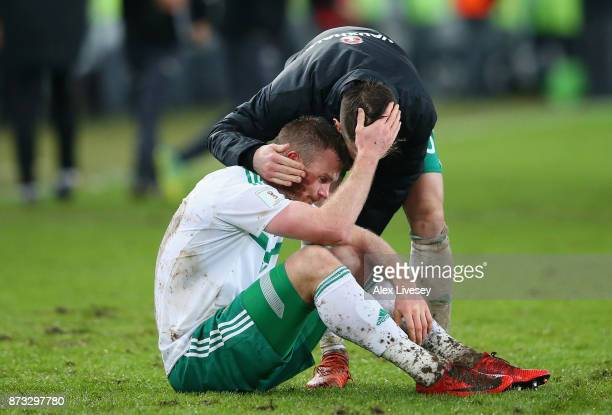 Chris Brunt of Northern Ireland looks dejected following the FIFA 2018 World Cup Qualifier PlayOff Second Leg between Switzerland and Northern...