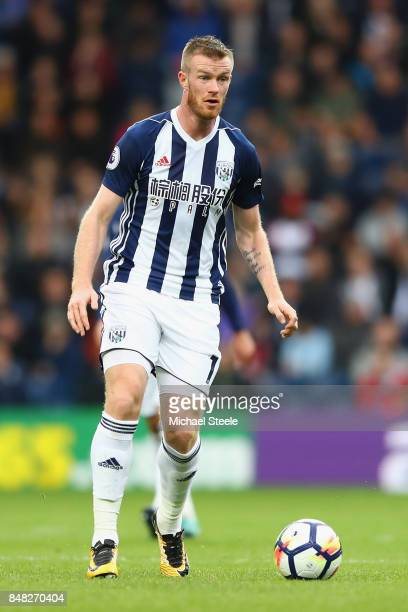 Chris Brunt of West Bromwich Albion during the Premier League match between West Bromwich Albion and West Ham United at The Hawthorns on September 16...