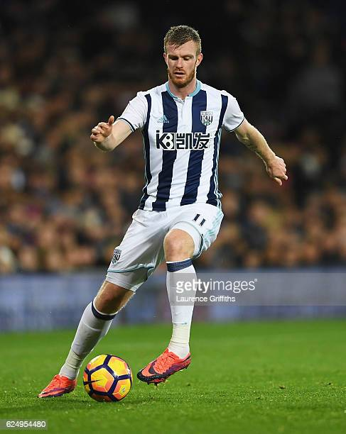 Chris Brunt of West Bromwich Albion in action during the Premier League match between West Bromwich Albion and Burnley at The Hawthorns on November...