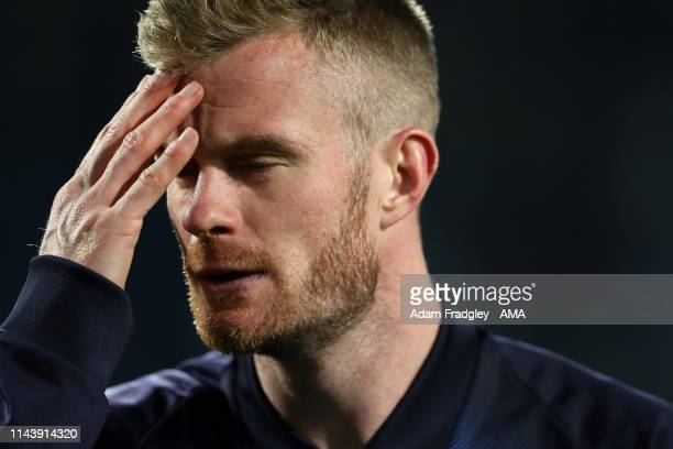 Chris Brunt of West Bromwich Albion reacts after losing the penalty shoot out during the Sky Bet Championship Playoff Semi Final Second Leg match...