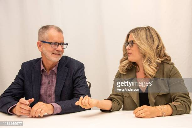 Chris Buck and Jennifer Lee at the Frozen II Press Conference at the Four Seasons Hotel on October 16 2019 in Beverly Hills California