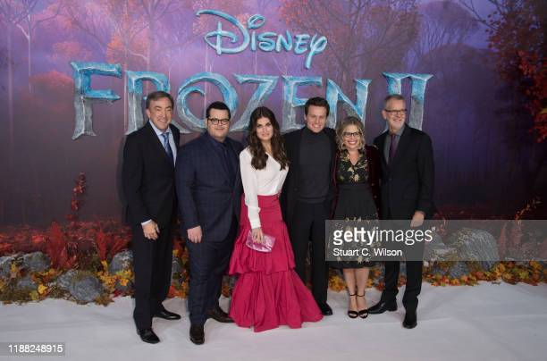 Chris Buck Peter Del Vecho Josh Gad Idina Menzel Jonathan Groff and Jennifer Lee attend the Frozen 2 European premiere at BFI Southbank on November...