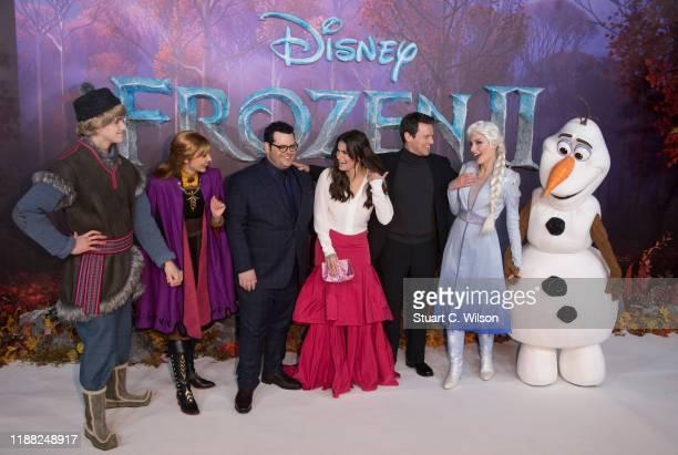 Chris Buck Peter Del Vecho Josh Gad Idina Menzel Jonathan Groff and Jennifer Lee attend the Frozen 2 European premiere at BFI Southbank on November...