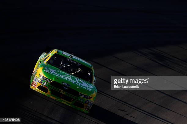 Chris Buescher driver of the AdvoCare Ford races during the NASCAR XFINITY Series Kansas Lottery 300 at Kansas Speedway on October 17 2015 in Kansas...