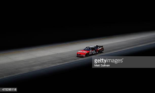 Chris Buescher driver of the Roush Performance Products Ford races during the NASCAR XFINITY Series Buckle Up 200 presented by Click It or Ticket at...
