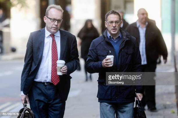 Chris Bush former UK managing director for Tesco Plc right arrives at Southwark Crown Court in London UK on Wednesday Oct 4 2017 A senior Tesco...