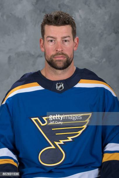 Chris butler of the St Louis Blues poses for his official headshot for the 20172018 season on September 14 2017 in St Louis Missouri