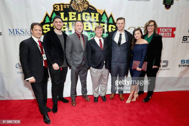 Chris Cabott Leigh Steinberg and Nic Shimonek attend Leigh Steinberg Super Bowl Party 2018 on February 3 2018 in Minneapolis Minnesota