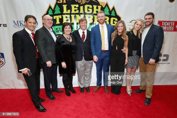 Chris Cabott Leigh Steinberg and Ryan Leaf attend Leigh Steinberg Super Bowl Party 2018 on February 3 2018 in Minneapolis Minnesota