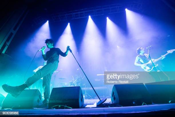 Chris Caines and James Gamage of Coasts perform on stage at O2 Academy Glasgow on January 9 2018 in Glasgow Scotland