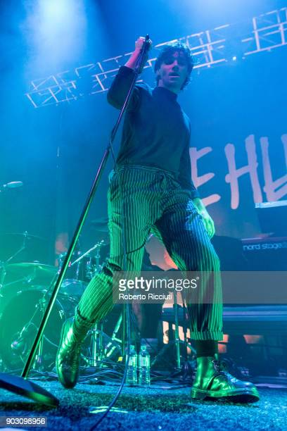 Chris Caines of Coasts performs on stage at O2 Academy Glasgow on January 9 2018 in Glasgow Scotland